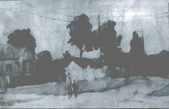Акварель юного Г.Чубая,1964 рік