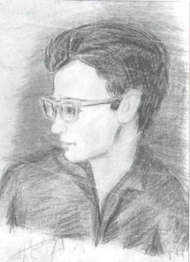 Ірина Колосова.Малюнок оліцем. Г.Чубай,1965 рік
